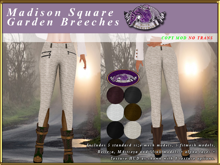 *E* Madison Square Garden Breeches [BOXED] Texture Scripted