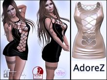 AdoreZ -Rally Dress Black_Pink_Flower Green_Cream_Militar