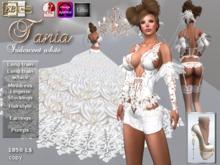 EB Atelier ** TANIA ** Wedding dress white iridescent + Pumps w/ OMEGA SLINK Lolas - italian designer