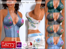 LARRY JEANS - Flower Halter Top - 6 Color Pack