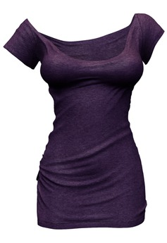 *Just BECAUSE* Zoe T-Shirt Dress - Purple - Maitreya,Belleza,Slink