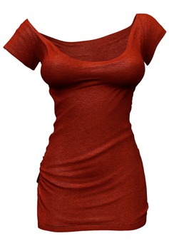 *Just BECAUSE* Zoe T-Shirt Dress - Red