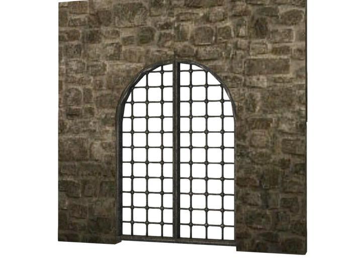 Mesh Metal Arch Doors - Full Perm