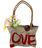 ALB MALIBU handbag Love shoulder - by AnaLee Balut