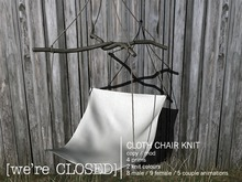 [we're CLOSED] cloth chair knit