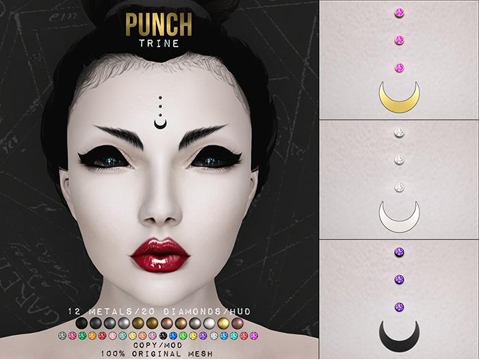 PUNCH / Trine ♥ Bindi Piercing Set {Mesh}