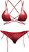 Blueberry - Peachkini Mesh Bikini - Maitreya Lara, Belleza Freya Isis Venus, Slink Physique Hourglass - Red