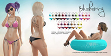 Blueberry - Peachkini Mesh Bikini - Maitreya Lara, Belleza Freya Isis Venus, Slink Physique Hourglass - Fat Pack