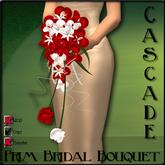!Rebel Hope Designs - Cascade Bridal Bouquet Deep Red