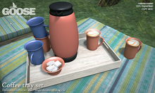 GOOSE - Coffee tray set