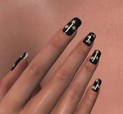 Sparkle Bunny glitter star nails for Maitreya