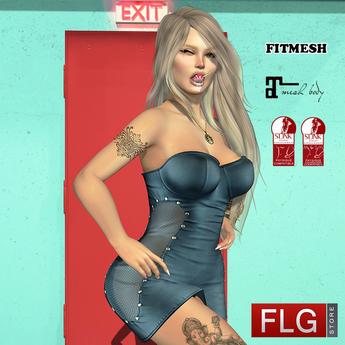 ::FLG Nikki Dress Fitmesh + HUD 10 Models::