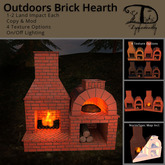 [DDD] Outdoors Brick Hearth - 1 or 2 Land Impact & Scripted!