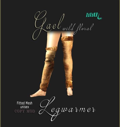 LD GAEL Leather Legwarmer Wild Floral