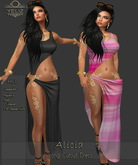 "YELIZ MESH ""ALICIA"" CUTOUT DRESS with MEGA HUD"