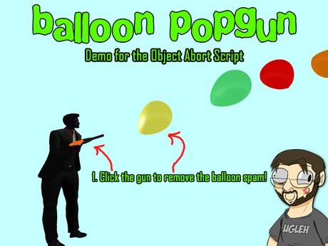 {UE} Balloon popgun