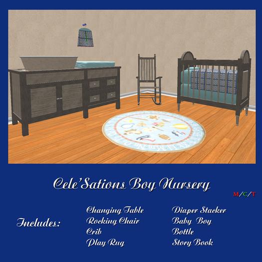 Cele'Sations Mesh Blue Nursey ~ Baby Boy Pk