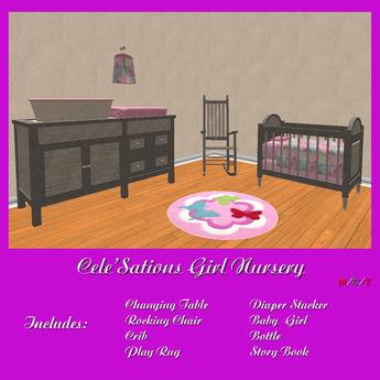 Cele'Sations Mesh Pink Nursey ~ Baby Girl Pk