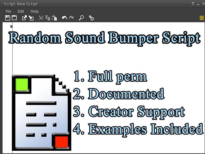 Random Sound Bumper Script