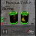 SciFi Barrel TipJar - Green -