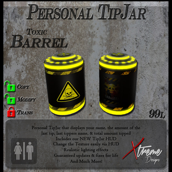 Sci Fi Barrel TipJar - Yellow -