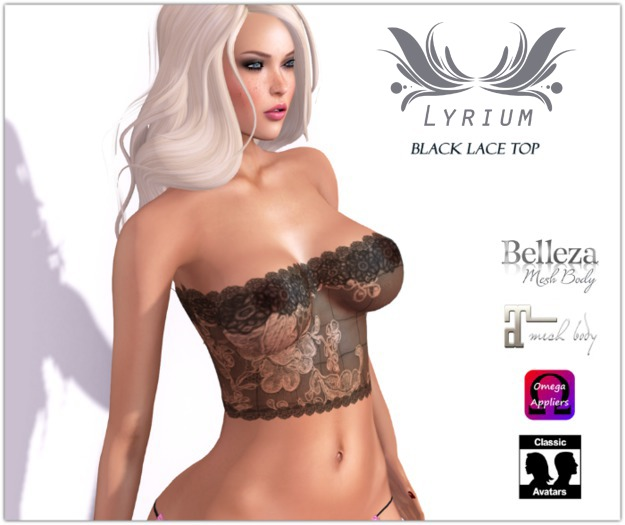 ..::..BeFunky..::.. Black Lace Top + Appliers