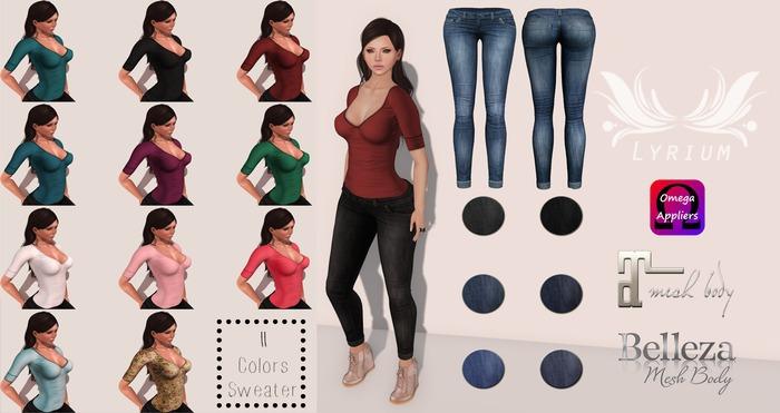 {Lyrium} Jeans & Sweater Combo