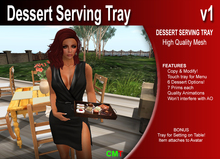 Serving Tray featuring Desserts