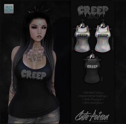 Cute Poison - Creep Tank Black