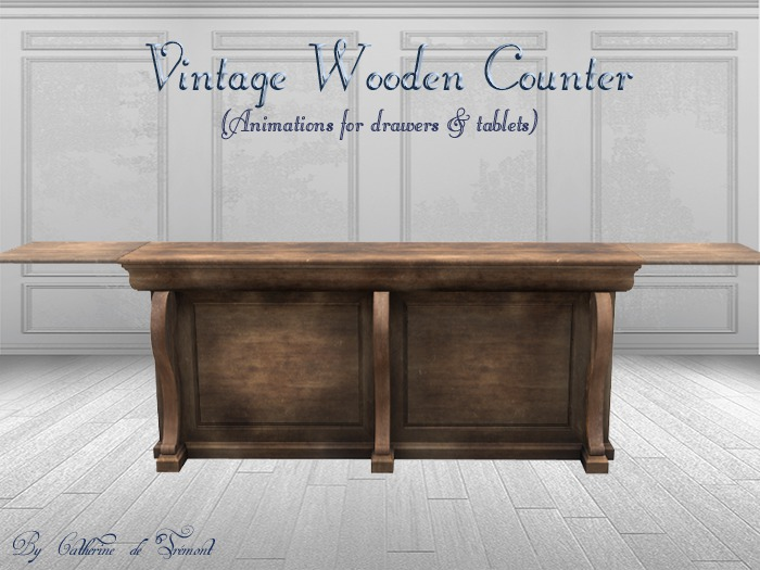 *CdT* Vintage wooden counter