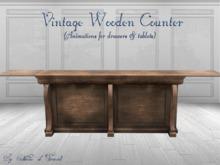 *CdT* Vintage wooden counter