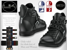 YACK - Mens and Womans MESH Boots Razors - HUD Textures