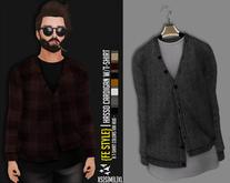 {Fe Style} Hasso Cardigan W/T-Shirt Hud - [GRAY][V.1][BOX]