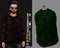 {Fe Style} Hasso Cardigan W/T-Shirt Hud - [LGREEN][V.1]