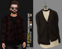 {Fe Style} Hasso Cardigan W/T-Shirt Hud - [DBROWN][V.1][BOX]