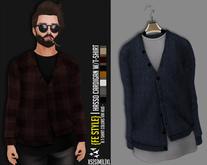 {Fe Style} Hasso Cardigan W/T-Shirt Hud - [NAVY][V.1][BOX]