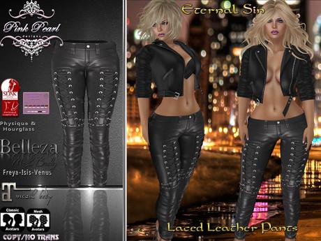 [PPD] Eternal Sin Leather Pants - Black