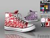 ::ROC:: Canvas Sneaker! High-Skull (FEMALE)