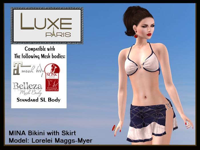 LUXE Paris MINA Bikini-Skirt