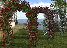 CJ Metal Arch 3er Set full of lovely Roses 10 diff. Texture