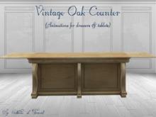 *CdT* Vintage Oak counter