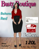 Busty Boutique Bakana red {Wear Me}