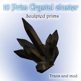 10 Prim Crystal cluster Box (Onyx) SLX