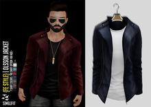 {Fe Style} Olsson Jacket w/Shirt - [Navy]