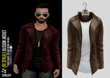 {Fe Style} Olsson Jacket w/Shirt - [Cammel]