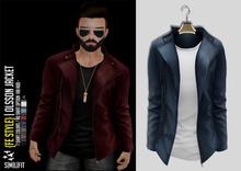 {Fe Style} Olsson Jacket w/Shirt - [Blue]