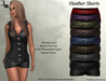 De designs heather leather shorts