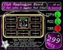* NEW * Club Application Board * 3 Color *
