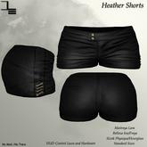 DE Designs - Heather Shorts - Leather Black