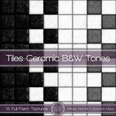 {L} Ceramic Tiles-B&W Tones